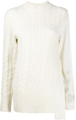 Sacai Chunky Cable Knit Jumper Shirt