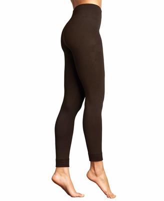Lemon Women's Plush Legging with Stitch Cuff