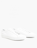Common Projects White Leather Achilles Sneakers