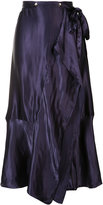 Nina Ricci pleated skirt - women - Silk/Viscose - 36