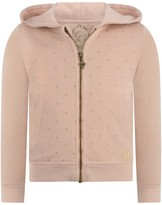 GUESS Pink Glitter Spotted Zip Up Top