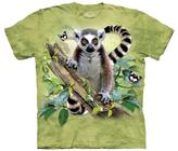 The Mountain Green Lemur & Butterflies Tee - Unisex & Plus