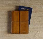Pottery Barn Beckett Leather Travel Passport Case