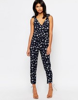 Warehouse Leaf Print Jumpsuit