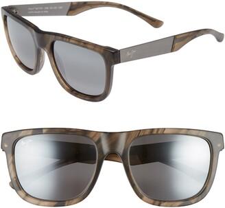 Maui Jim Talk Story 55mm Polarized Sunglasses