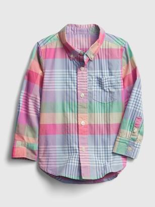 Gap Toddler Plaid Poplin Shirt