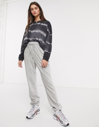 Noisy May cord ribbed joggers co-ord in grey