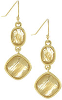 Cole Haan 12K Gold Plated Double Drop Stone Earrings