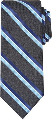 Haggar Big & Tall Striped Heathered Extra-Long Tie