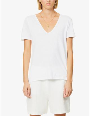 Bassike V-neck organic cotton-jersey T-shirt
