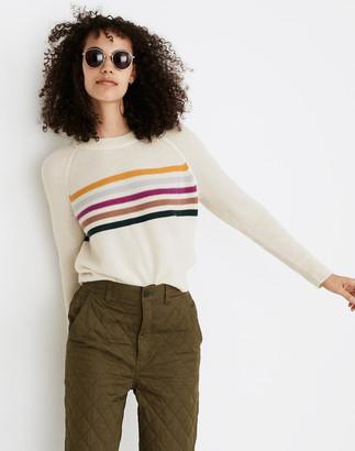 Madewell (Re)sponsible Cashmere Shrunken Sweatshirt in Placed Stripe