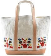 Vanessa Bruno Floral Embroidered Canvas Medium Tote