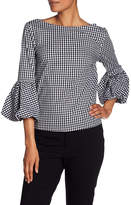 Laundry by Shelli Segal Gingham Puff Sleeve Blouse
