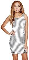 GUESS Striped Fishnet Dress