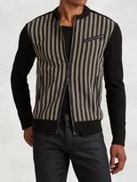John Varvatos Linen Stripe Jacket