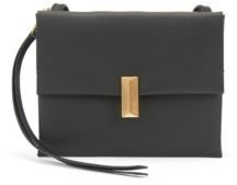 HUGO BOSS Cross-body bag in coated leather with pyramid hardware