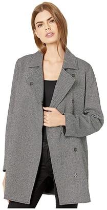 BB Dakota In The Tweeds Two-Tone Twill Coat with Snap Closure (Black) Women's Coat