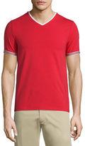 Moncler Tape-Tipped Short-Sleeve T-Shirt, Black