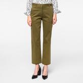 Paul Smith Women's Slim-Fit Khaki Stretch-Cotton Chinos