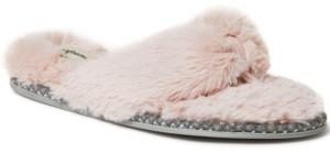 Dearfoams Women's Fuzzy Thong Slippers, Online Only