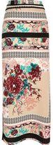 River Island Womens Pink oriental print maxi skirt