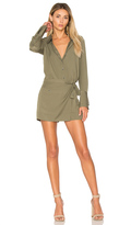 Halston Romper With Faux Wrap