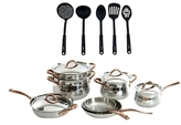 Berghoff Ouro Stainless Steel Cookware Set with Kitchen Tools (16 PC)