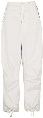 Dion Lee Parachute ivory cotton trousers