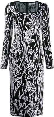Givenchy Floral-Pattern Mid-Length Dress