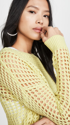 Dna Lime Crochet Sweater