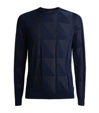 Emporio Armani Geometric Knitted Sweater