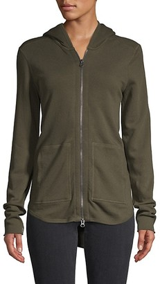 ATM Anthony Thomas Melillo Hooded High-Low Cotton Jacket