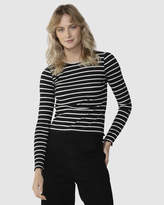 Sass Crowd Pleaser Stripe Top