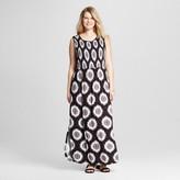 U-knit Women's Plus Floral Smocked Sleeveless Dress Black