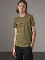 Burberry Devoré Cotton Jersey T-shirt , Size: Xxl, Green