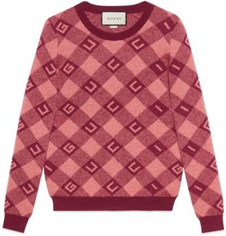 Gucci check jacquard jumper