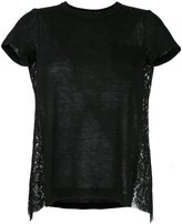 Sacai lace back T-shirt - women - Cotton/Linen/Flax/Nylon/Rayon - 3