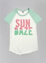 Junk Food Clothing Kids Girls Sun Daze Short Sleeve Raglan-su/po-m