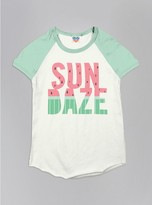 Junk Food Clothing Kids Girls Sun Daze Short Sleeve Raglan-su/po-xs