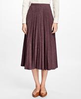 Brooks Brothers Wool Sunburst Pleated Skirt