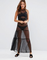 French Connection Sheer Beach Maxi Dress