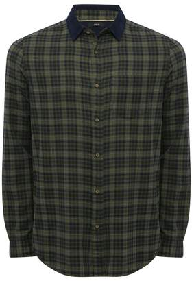M&Co Cord collar checked shirt