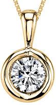 Sirena T.W. Diamond 14K Yellow Gold Pendant Necklace