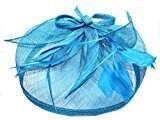Inca 4603 Large looped hessian hatinator Fascinator Pink Navy Teal Wedding Ladies Day Races (Teal)