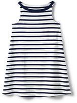 Lands' End Girls Plus Aline Knit Tank Dress-Pineapple Stripe