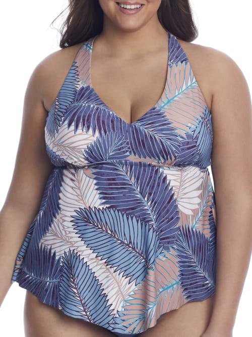 Thumbnail for your product : Raisins Curve Plus Size Puerto Palm Trinidad Tankini Top