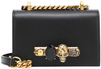 Alexander McQueen Jeweled Mini leather crossbody bag