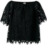 Temperley London berry lace top - women - Polyester - 12