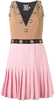 Fausto Puglisi colour block studded dress - women - Wool/Acetate/Silk - 40
