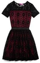 Aqua Girls' Contrast Lined Lace Dress, Big Kid - 100% Exclusive